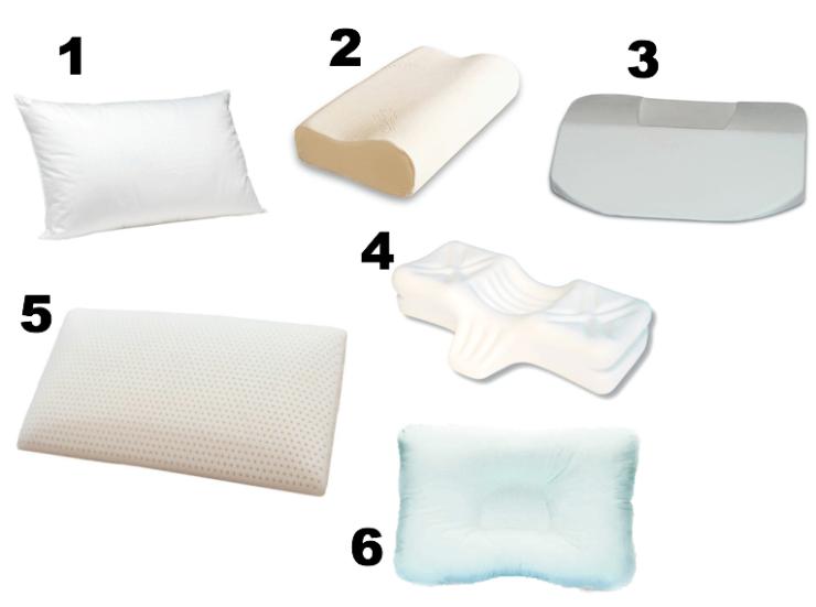 6 types of sleeping pillows